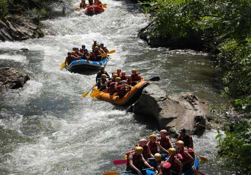 Rafting ; week-end d'integration Etudiants
