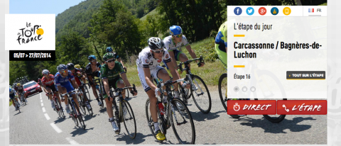Tour de France arrivée à Bagnères de Luchon