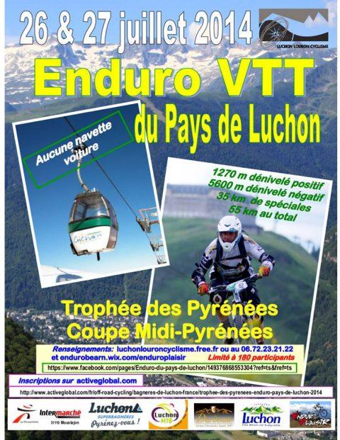 Enduro Pays de Luchon les 26 et 27 Juillet 2014