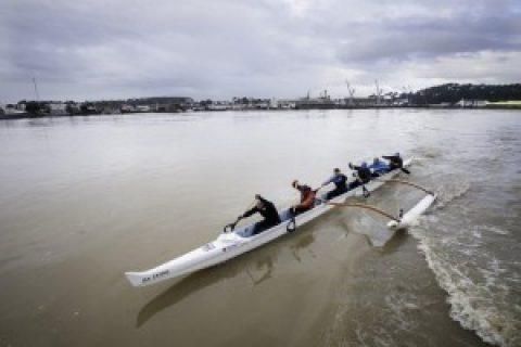 La première traversée de la Manche en pirogue V6