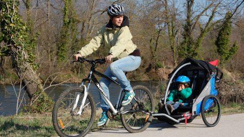 Balades à vélo sur les berges de la Garonne
